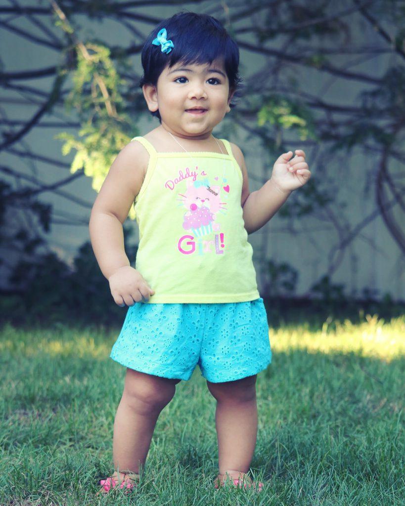 Shorts_Summer Style_Blue Shorts_Sleeveless _Top